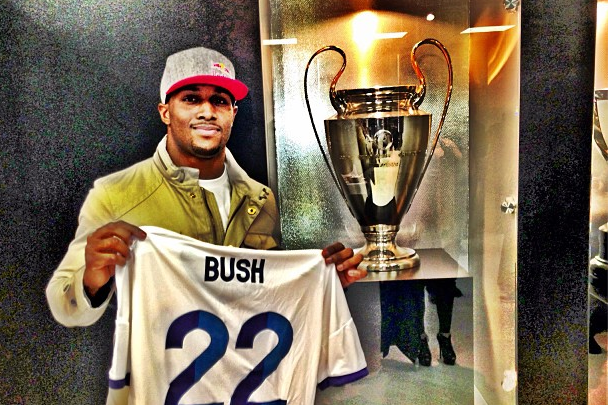 NFL's Reggie Bush Enjoys El Classico as Guest of Real Madrid