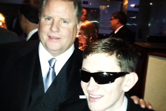 Chip Kelly Hangs with Renowned Eagles National Anthem Singer Timmy Kelly