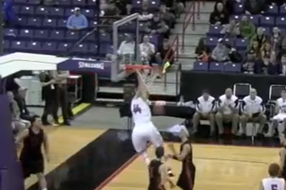 High School Basketball Dunk Brought Down the Hoop [Video]