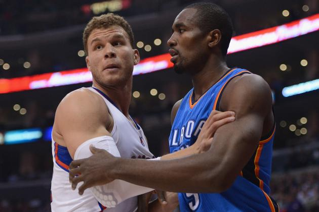 Serge Ibaka Assessed a Flagrant 1 Foul After Brutal Punch on Blake Griffin