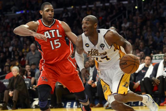Kobe, Lakers Hold off Hawks to Get Back to .500