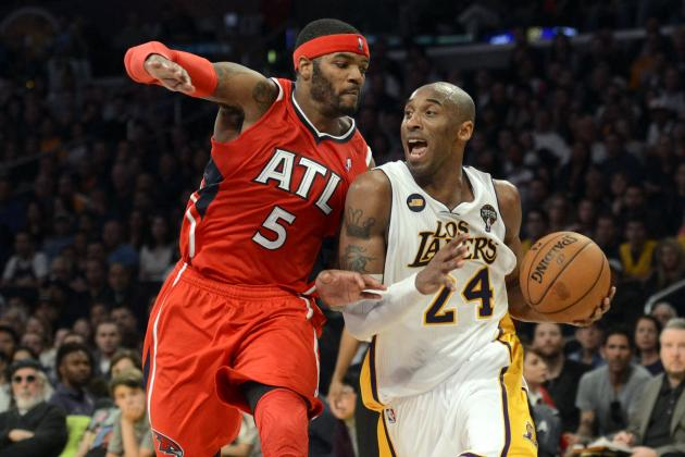 Kobe Bryant Turns Back Clock Late in Lakers' Win over Hawks
