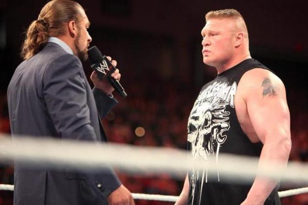 WWE WrestleMania 29: Why Brock Lesnar vs. Triple H Will Top SummerSlam Bout
