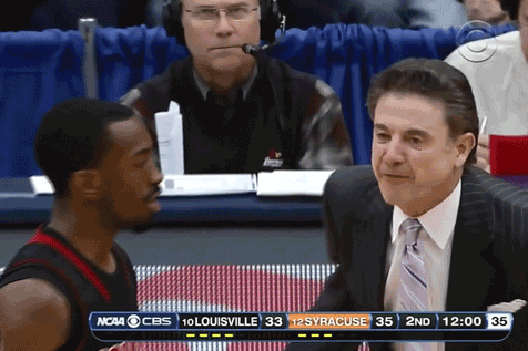 Rick Pitino Is Dropping F-Bombs During the Syracuse-Louisville Game