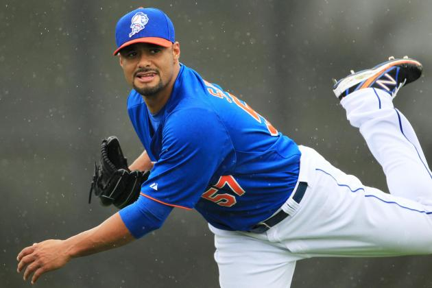 Johan Throws Off Mound at Mets Camp