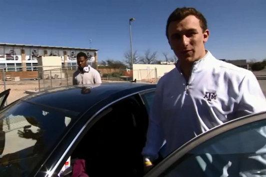 Johnny Manziel Drives Away in a Pretty Sweet Ride for an ESPN Segment