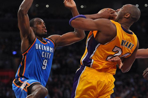 Kobe Bryant Cries Foul over Serge Ibaka's Flagrant Foul on Blake Griffin