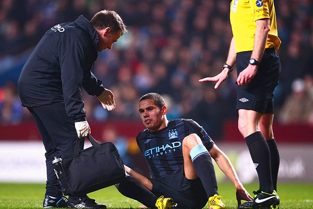 Rodwell Injury Curse Strikes Again After Man City Mid Limps off at Villa Park