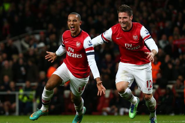 Olivier Giroud vs. Theo Walcott: Who the Stats Say Is Arsenal's Better Striker
