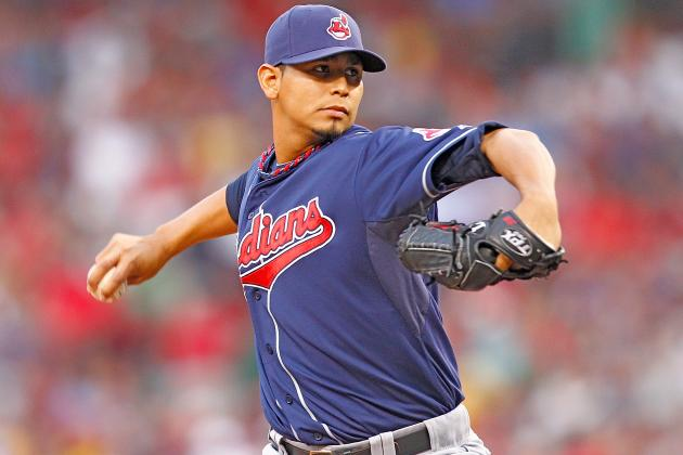 Carlos Carrasco Uninjured After Being Hit with Line Drive