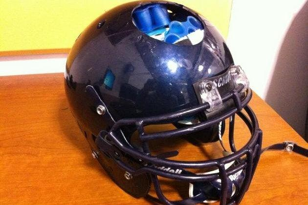 Cal Is Ready to Hit This Season, Judging from This Cracked and Busted Helmet