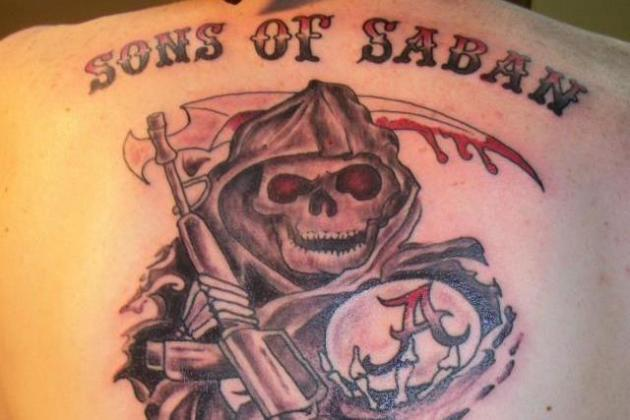 Alabama Superfan Dumbs Down 'Sons of Anarchy' Logo for 'Sons of Saban' Tattoo