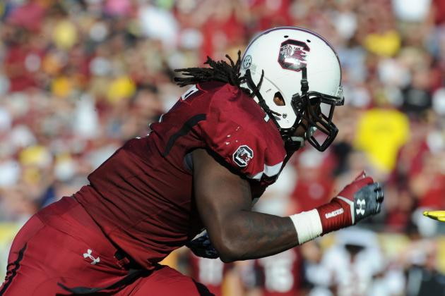 South Carolina 270 Pound DE Jadeveon Clowney Ran a 4.5 40 at Recent Workout