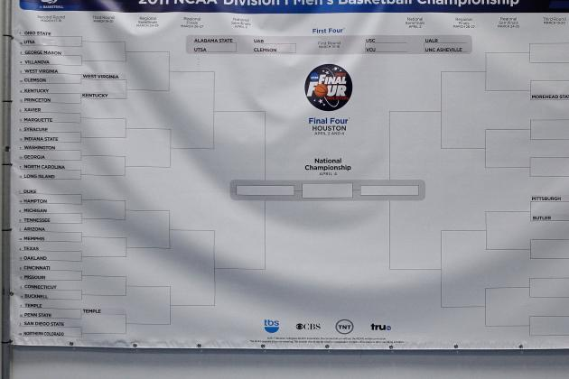 Printable March Madness Bracket: Make Picks for Entire NCAA Tournament