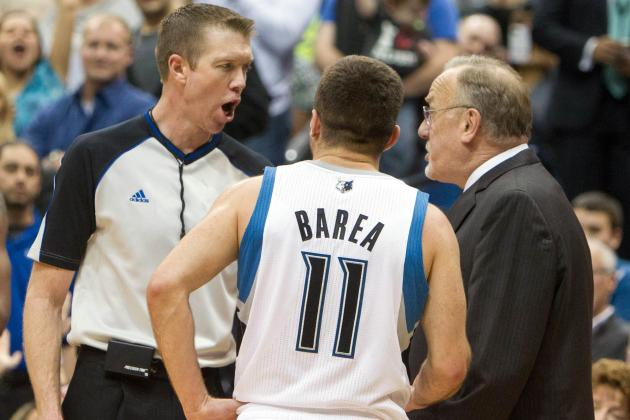 Barea's Flagrant Foul 2 Downgraded to 1