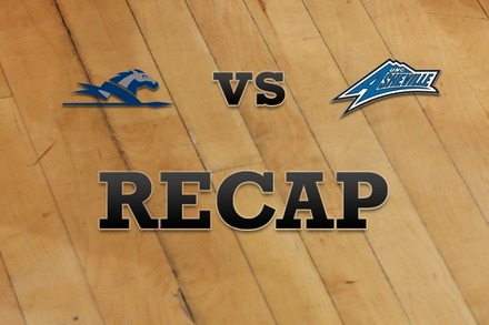 Longwood vs. UNC Asheville: Recap, Stats, and Box Score