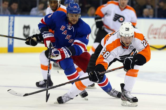 Nash Leads Rangers in 4-2 Victory over Flyers
