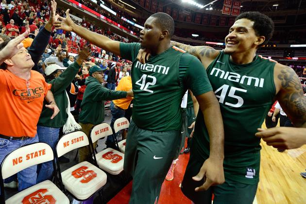 Reggie Johnson Presses on as 'Canes Play for ACC Title