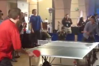 Daryl Morey Dominates Jeremy Lin in Table Tennis (VIDEO)