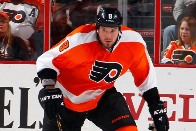 Lower-Body Injury Ends Night for Flyers' Grossmann