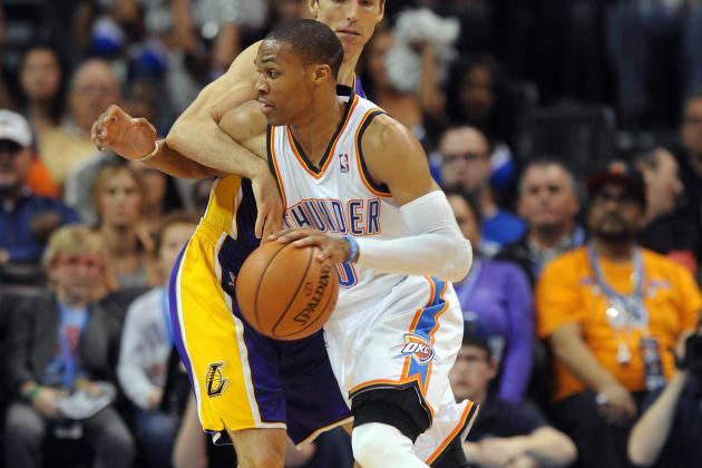 Russell Westbrook Scores 37 Points as Thunder Downs Lakers