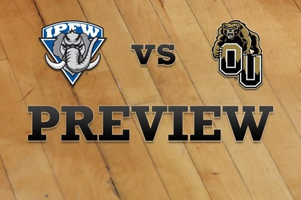 IPFW vs. Oakland: Full Game Preview