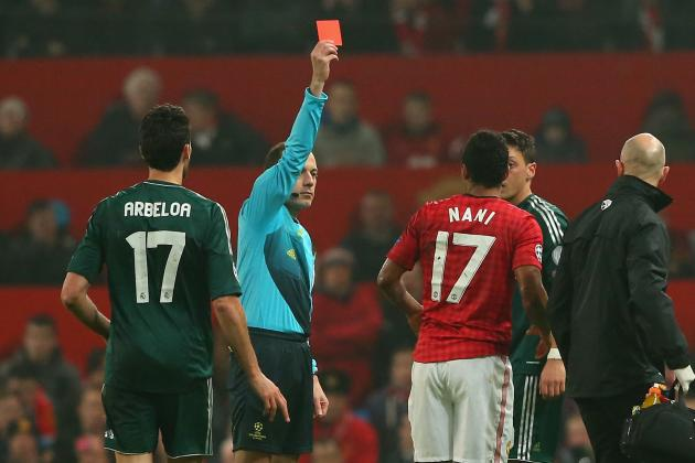 Manchester United vs. Real Madrid: Nani's Red Card His Own Fault