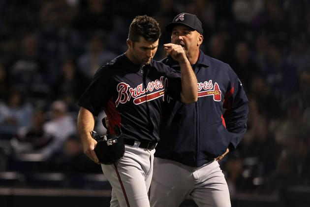 Uggla Hit in Neck by Fastball