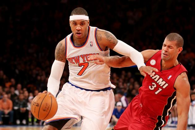 Carmelo Has Fluid on Knee, Don't Expect Him to Play Wednesday