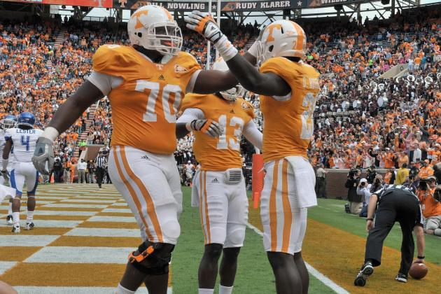 Offensive Line Heads Tennessee Vols' Good Stuff