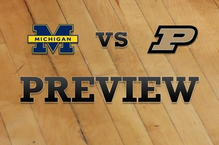 Michigan vs. Purdue: Full Game Preview