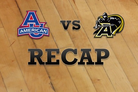 American University vs. Army: Recap, Stats, and Box Score