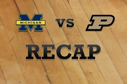 Michigan vs. Purdue: Recap, Stats, and Box Score