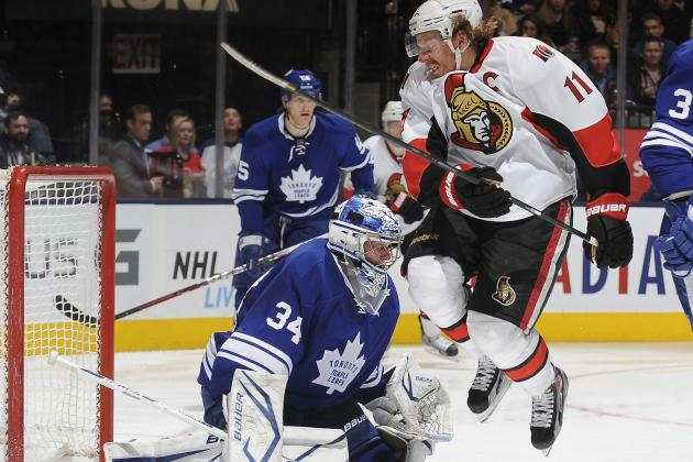 Kessel Helps Maple Leafs Hold off Senators