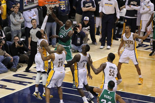 Celtics Pull out 83-81 Win over Pacers on Last Second Shot by Jeff Green