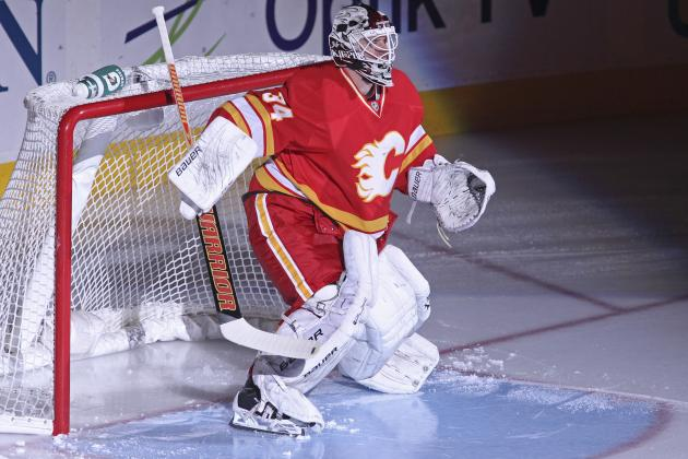 Flames Goalie Kiprusoff Returns, Stymies Sharks