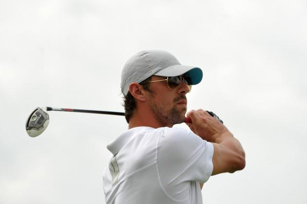 Michael Phelps Throws Driver at St. Andrews