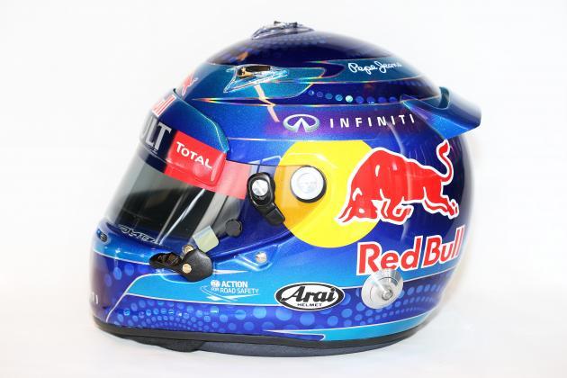 2013 Formula 1 Drivers' Helmets