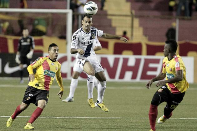 Galaxy Claim 0-0 Draw in First Leg of Champs League Quarterfinal with Herediano