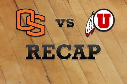 Oregon State vs. Utah: Recap, Stats, and Box Score