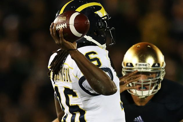 Denard Robinson Plans to Throw at Michigan Pro Day