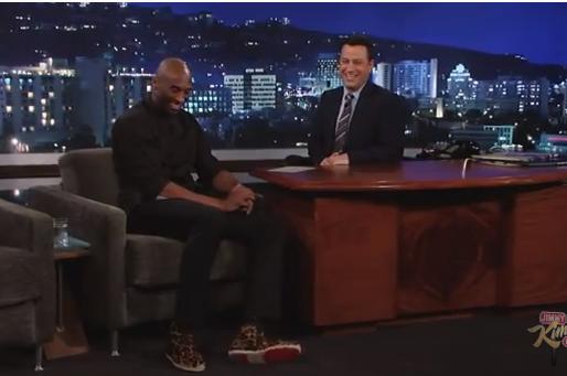 Kobe Bryant Visits Jimmy Kimmel Live, Jokes and Cheetah Shoes Abound