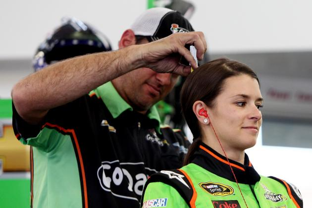 Danica Has Sore Neck, Head After Hit with Rock