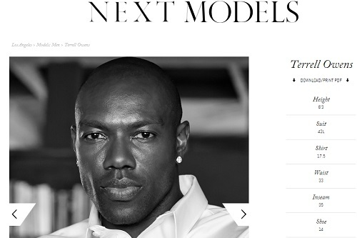 Terrell Owens Signs a Modeling Contract