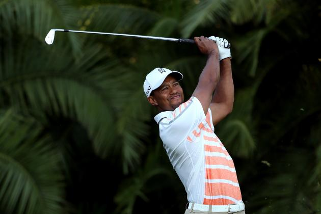 WGC Cadillac Championship 2013: Tiger Woods Shoots 65 and Leads After Round 2