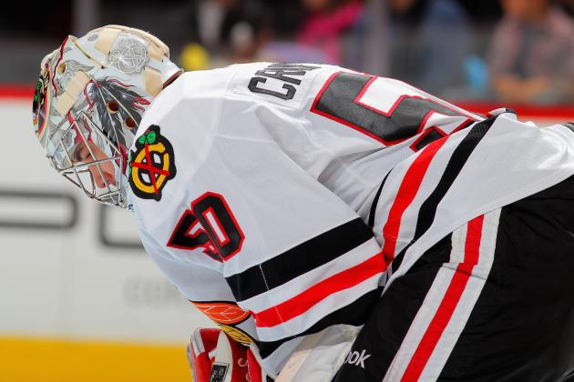 Ray Emery Is in Goal to Start the 3rd Period -- Corey Crawford Pulled