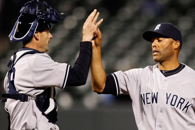 Yankees Teammates Pay Respects to Mariano Rivera