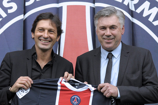 PSG President Expects Carlo Ancelotti and Leonardo to Stay at Club
