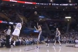 Alonso Gee Hits 3/4 Court Shot Against Memphis Grizzlies