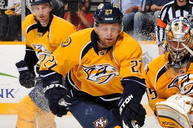 Predators' Hornqvist to Miss Next Two Games with Injury